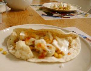 taco's met mais en bloemkool dubbel